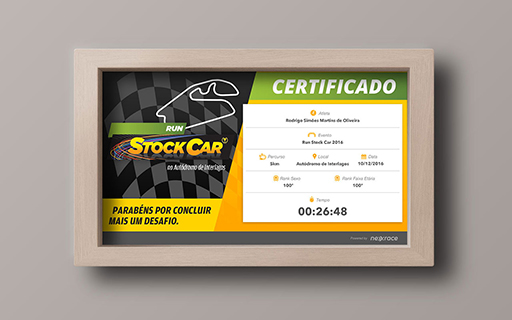 Certificado de resultado - Run Stock Car
